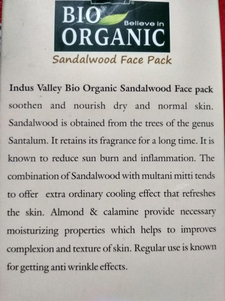 sandalwood facepack