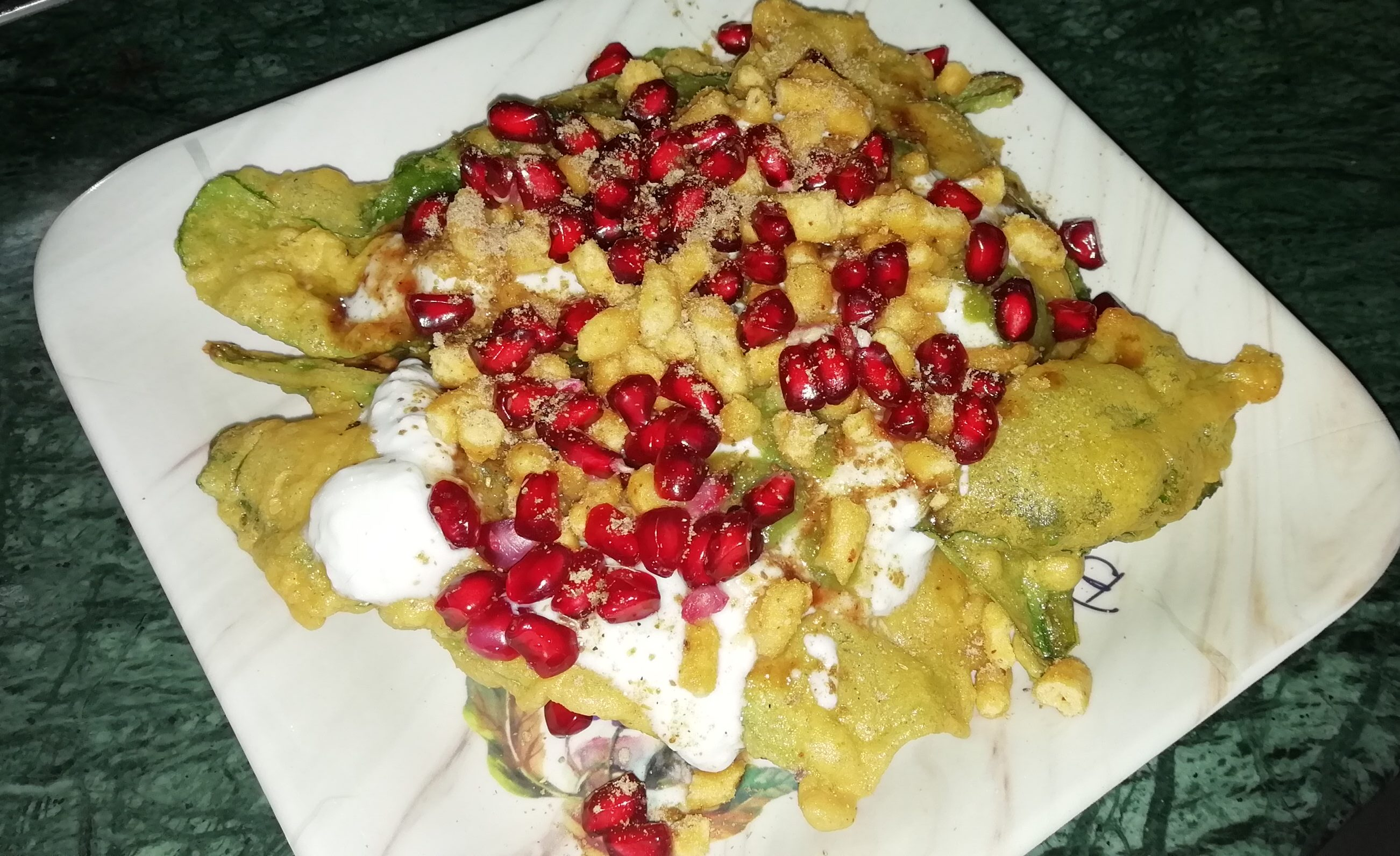 Spinach Leaf Chaat