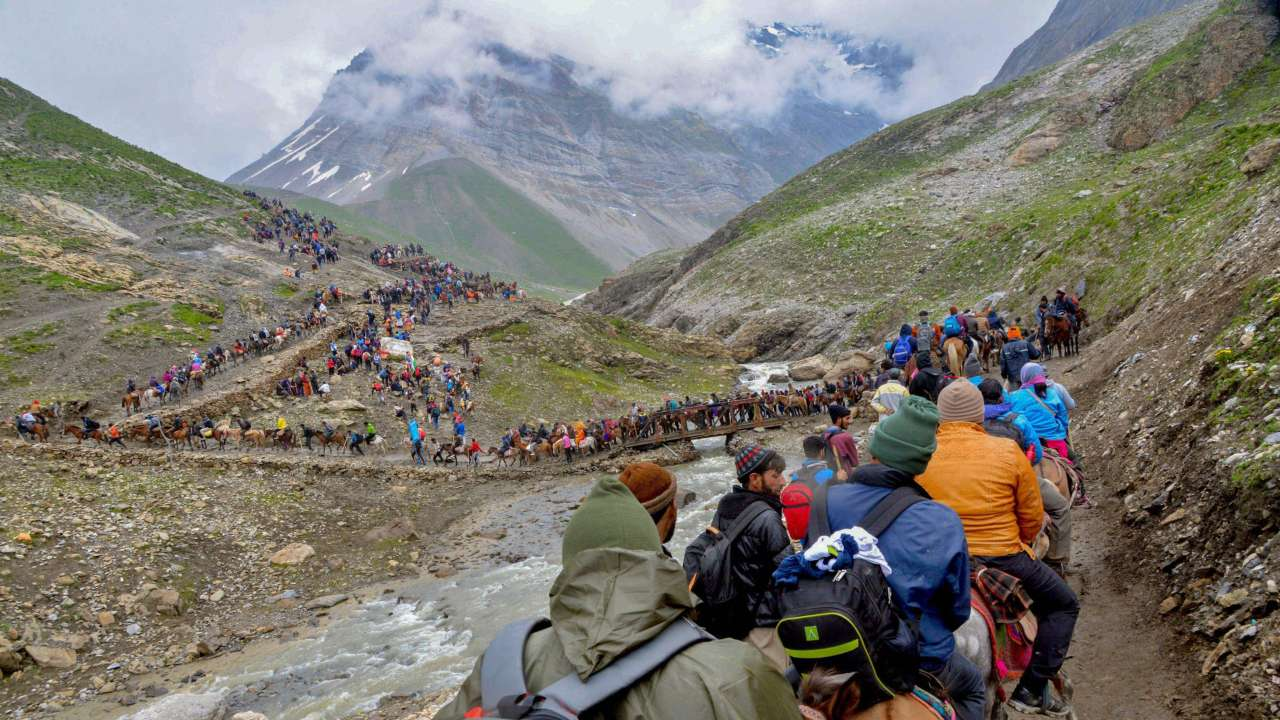 Baltal Route For Amarnath Cave