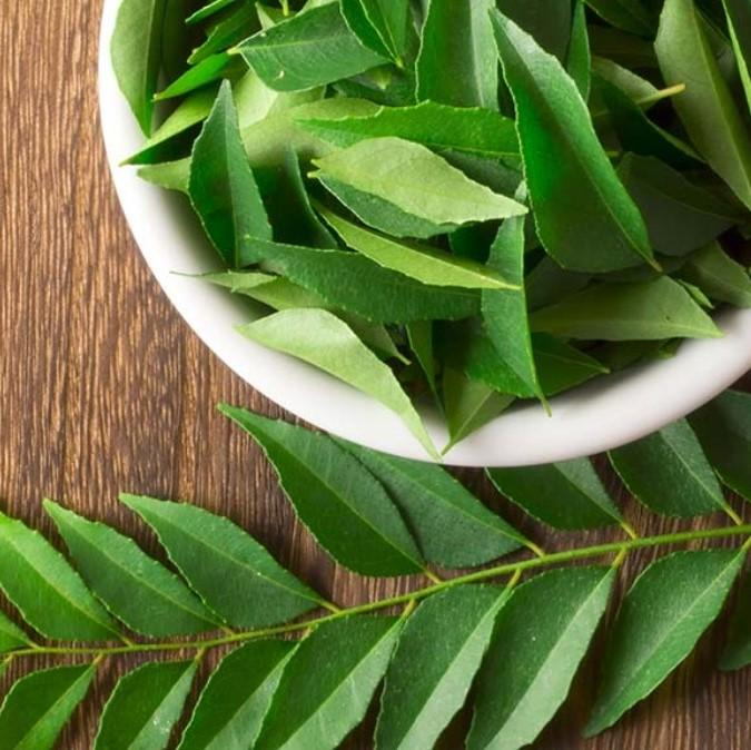 curry-leaves for grey hair